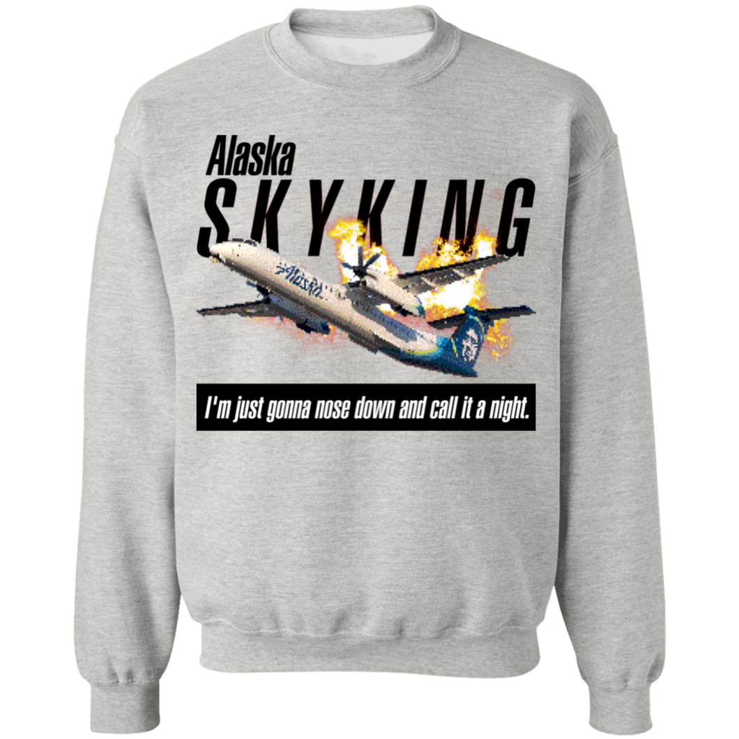 Alaska Sky King Crewneck Sweatshirt by palm-treat.myshopify.com for sale online now - the latest Vaporwave & Soft Grunge Clothing