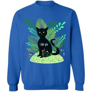 Hate You Crewneck Sweatshirt by palm-treat.myshopify.com for sale online now - the latest Vaporwave & Soft Grunge Clothing