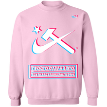 Load image into Gallery viewer, Hammer & Sickle Anaglyph Crewneck Sweatshirt by palm-treat.myshopify.com for sale online now - the latest Vaporwave & Soft Grunge Clothing