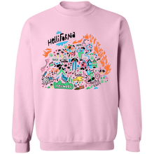 Load image into Gallery viewer, Hellifornia Crewneck Sweatshirt by palm-treat.myshopify.com for sale online now - the latest Vaporwave & Soft Grunge Clothing
