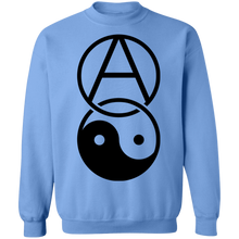 Load image into Gallery viewer, Anarchy Yin Yang Crewneck Sweatshirt by palm-treat.myshopify.com for sale online now - the latest Vaporwave & Soft Grunge Clothing