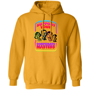 Support Your Corporate Masters Hoodie by palm-treat.myshopify.com for sale online now - the latest Vaporwave & Soft Grunge Clothing