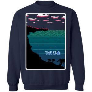 The End Crewneck Sweatshirt by palm-treat.myshopify.com for sale online now - the latest Vaporwave & Soft Grunge Clothing