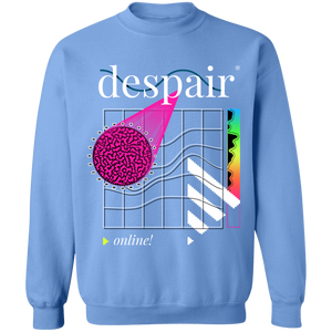 Despair Online Crewneck Sweatshirt by palm-treat.myshopify.com for sale online now - the latest Vaporwave & Soft Grunge Clothing