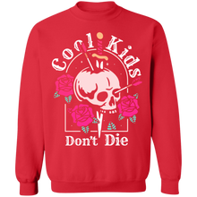 Load image into Gallery viewer, Cool Kids Don't Die Crewneck Sweatshirt by palm-treat.myshopify.com for sale online now - the latest Vaporwave & Soft Grunge Clothing