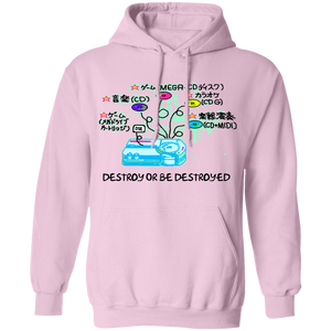 Destroy or Be Destroyed Hoodie by palm-treat.myshopify.com for sale online now - the latest Vaporwave & Soft Grunge Clothing
