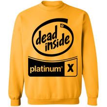 Load image into Gallery viewer, Black Out Dead Inside Crewneck by palm-treat.myshopify.com for sale online now - the latest Vaporwave & Soft Grunge Clothing
