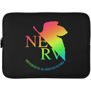 Eva II Laptop Sleeve by palm-treat.myshopify.com for sale online now - the latest Vaporwave & Soft Grunge Clothing