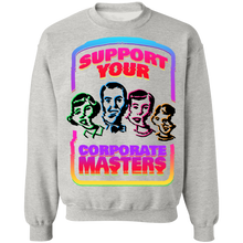 Load image into Gallery viewer, Support Your Corporate Masters Crewneck Sweatshirt by palm-treat.myshopify.com for sale online now - the latest Vaporwave & Soft Grunge Clothing