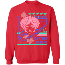 Load image into Gallery viewer, I'd Rather Be Dead Crewneck Sweatshirt by palm-treat.myshopify.com for sale online now - the latest Vaporwave & Soft Grunge Clothing