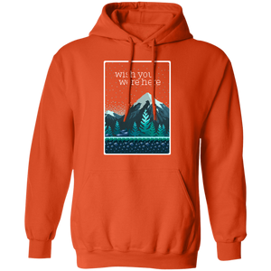 Wish You Were Here Hoodie by palm-treat.myshopify.com for sale online now - the latest Vaporwave & Soft Grunge Clothing