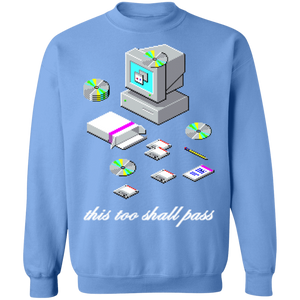 This Too Shall Pass Crewneck Sweatshirt by palm-treat.myshopify.com for sale online now - the latest Vaporwave & Soft Grunge Clothing