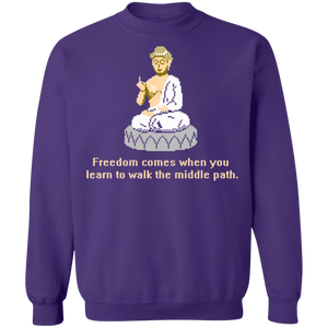 8-bit Stories Special Freedom Crewneck Sweatshirt by palm-treat.myshopify.com for sale online now - the latest Vaporwave & Soft Grunge Clothing