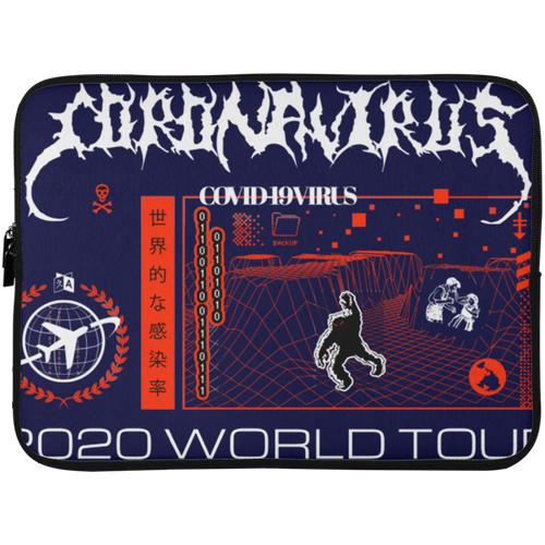 Coronavirus World Tour 2020 Laptop Sleeve - 15 Inch