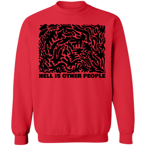 Hell is Other People Blackout Crewneck Sweatshirt