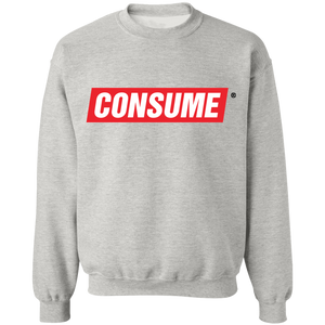 Consume Crewneck Sweatshirt by palm-treat.myshopify.com for sale online now - the latest Vaporwave & Soft Grunge Clothing