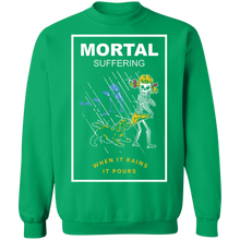 Load image into Gallery viewer, Mortal Suffering Crewneck Sweatshirt by palm-treat.myshopify.com for sale online now - the latest Vaporwave & Soft Grunge Clothing