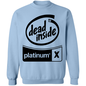 Black Out Dead Inside Crewneck by palm-treat.myshopify.com for sale online now - the latest Vaporwave & Soft Grunge Clothing