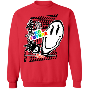 No Future Crewneck Sweatshirt by palm-treat.myshopify.com for sale online now - the latest Vaporwave & Soft Grunge Clothing
