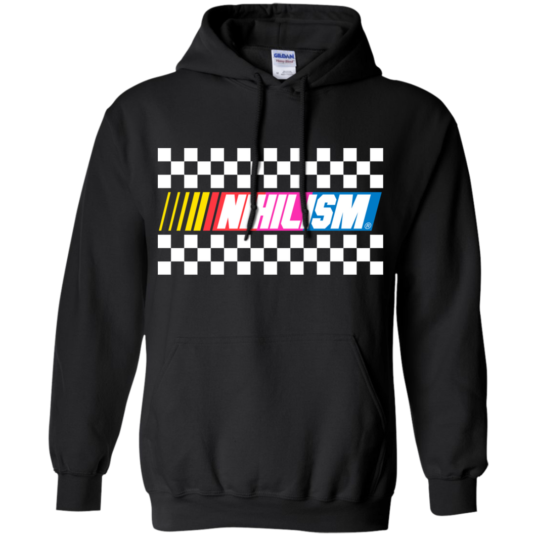 nihilsm nascar ironic hoodie by palm treat