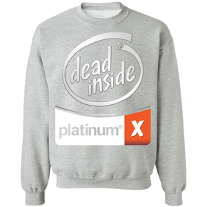 Dead Inside White Crewneck Sweatshirt by palm-treat.myshopify.com for sale online now - the latest Vaporwave & Soft Grunge Clothing