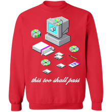 Load image into Gallery viewer, This Too Shall Pass Crewneck Sweatshirt by palm-treat.myshopify.com for sale online now - the latest Vaporwave & Soft Grunge Clothing