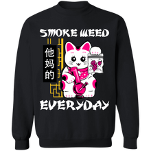 Load image into Gallery viewer, Smoke Weed Everyday Crewneck Sweatshirt by palm-treat.myshopify.com for sale online now - the latest Vaporwave & Soft Grunge Clothing
