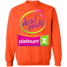 Load image into Gallery viewer, Dead Inside Neon Crewneck Sweatshirt by palm-treat.myshopify.com for sale online now - the latest Vaporwave & Soft Grunge Clothing