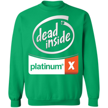 Load image into Gallery viewer, Dead Inside White Crewneck Sweatshirt by palm-treat.myshopify.com for sale online now - the latest Vaporwave & Soft Grunge Clothing