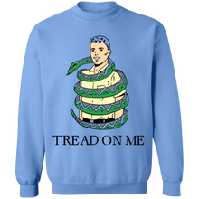 Load image into Gallery viewer, Tread on Me Crewneck Sweatshirt by palm-treat.myshopify.com for sale online now - the latest Vaporwave & Soft Grunge Clothing
