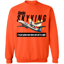 Load image into Gallery viewer, Alaska Sky King Crewneck Sweatshirt by palm-treat.myshopify.com for sale online now - the latest Vaporwave & Soft Grunge Clothing
