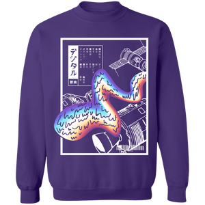 Digital Depression Crewneck Sweatshirt by palm-treat.myshopify.com for sale online now - the latest Vaporwave & Soft Grunge Clothing