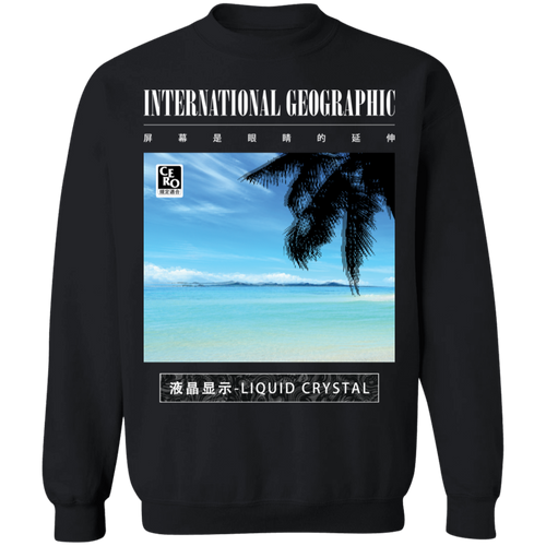 International Geographic Crewneck Sweatshirt by palm-treat.myshopify.com for sale online now - the latest Vaporwave & Soft Grunge Clothing