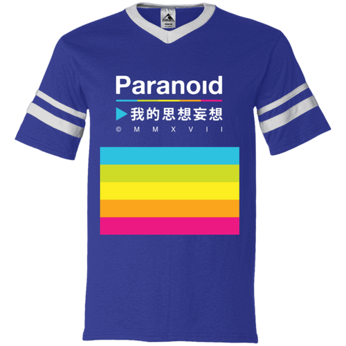 Paranoid Striper T-Shirt by palm-treat.myshopify.com for sale online now - the latest Vaporwave & Soft Grunge Clothing