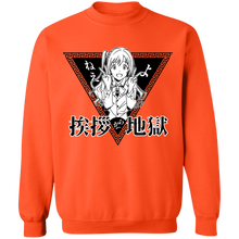 Load image into Gallery viewer, Greetings From Hell Crewneck Sweatshirt by palm-treat.myshopify.com for sale online now - the latest Vaporwave & Soft Grunge Clothing