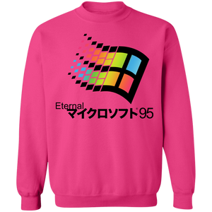 Eternal 95 Crewneck Sweatshirt by palm-treat.myshopify.com for sale online now - the latest Vaporwave & Soft Grunge Clothing