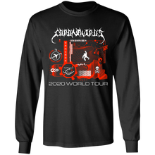 Load image into Gallery viewer, Coronavirus World Tour 2020 L/S Tee - Black Ink SKU