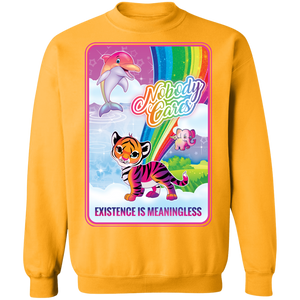 Existence is Meaningless Crewneck Sweatshirt by palm-treat.myshopify.com for sale online now - the latest Vaporwave & Soft Grunge Clothing