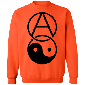 Anarchy Yin Yang Crewneck Sweatshirt by palm-treat.myshopify.com for sale online now - the latest Vaporwave & Soft Grunge Clothing