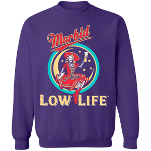 Morbid Low Life Crewneck Sweatshirt by palm-treat.myshopify.com for sale online now - the latest Vaporwave & Soft Grunge Clothing