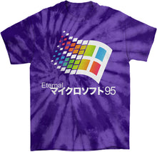 Load image into Gallery viewer, Eternal 95 Tie Die T-Shirt by palm-treat.myshopify.com for sale online now - the latest Vaporwave & Soft Grunge Clothing