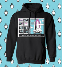 Load image into Gallery viewer, Aesthetic Nasa computer outerspace shuttle 8-bit nerd t-shirt