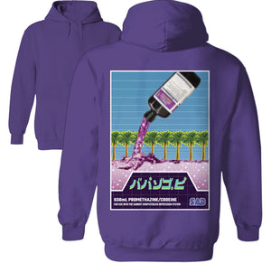 cough syrup hoodie by palm treat