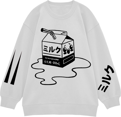 Kawaii Milk Holographic and Black Jumper