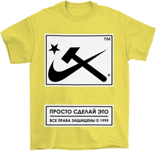 Load image into Gallery viewer, Aesthetic Hammer & Sickle Block Print T-Shirt