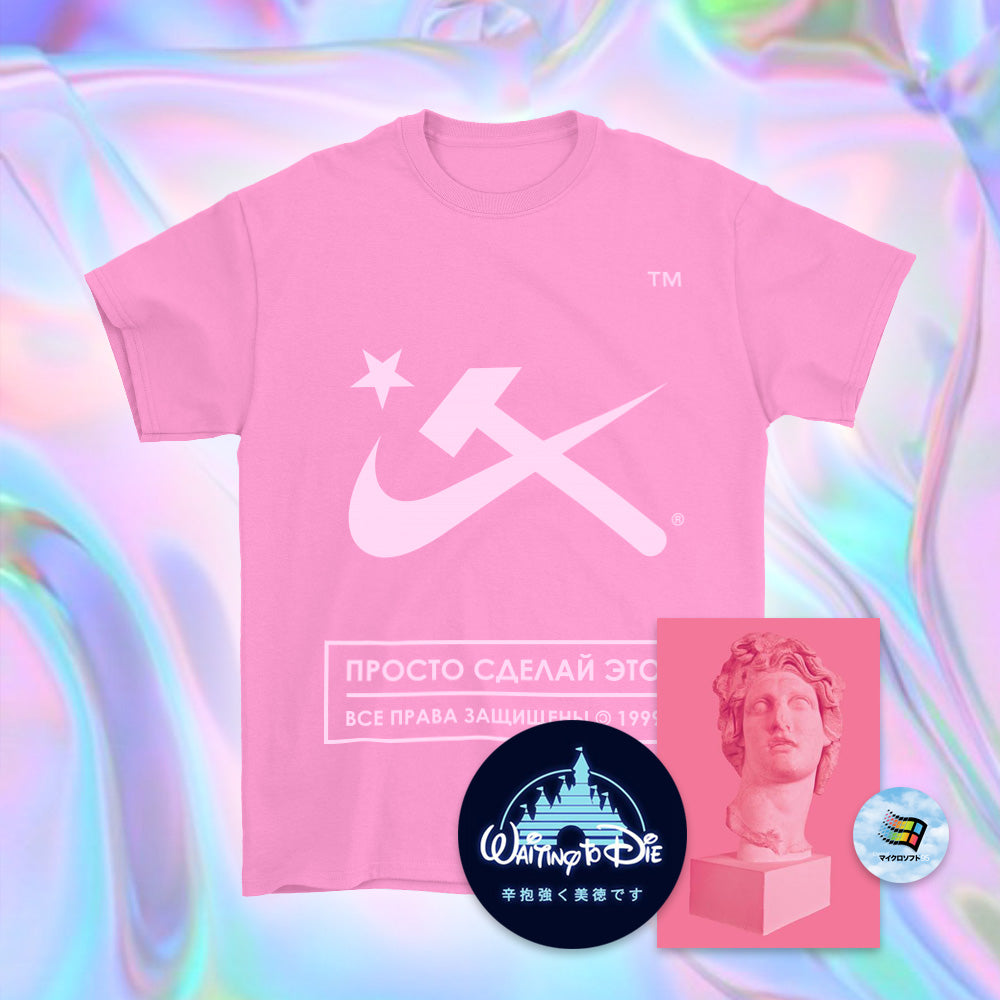 Pink Aesthetic Hammer & Sickle T-Shirt - Small