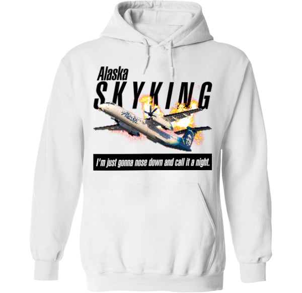 sky king alaska airlines 8bit hoodie by palm treat
