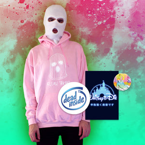 Alla 'Akbar Hoodie - Large by palm-treat.myshopify.com for sale online now - the latest Vaporwave & Soft Grunge Clothing