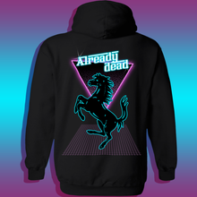 Load image into Gallery viewer, Vaporwave ferrari outrun 80s aesthetic hoodie cheap