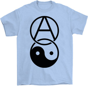 anarchy yin yang shirt by palm treat in blue